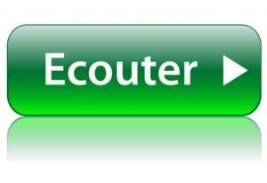 Bouton Web ECOUTER (audio radio live musique en direct lecture)